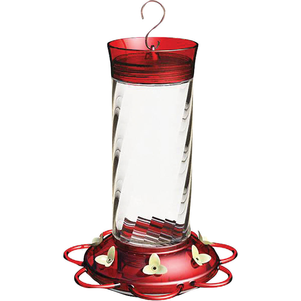 Classic Brands Diamond Hummingbird Feeder - Red, 30oz