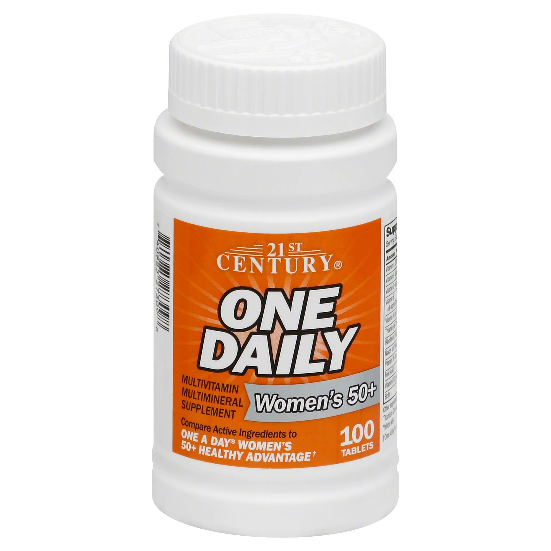 21st Century One Daily Women's 50+ Dietary Supplement - 100 Tablets