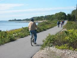 running in the fall shining sea bikeway