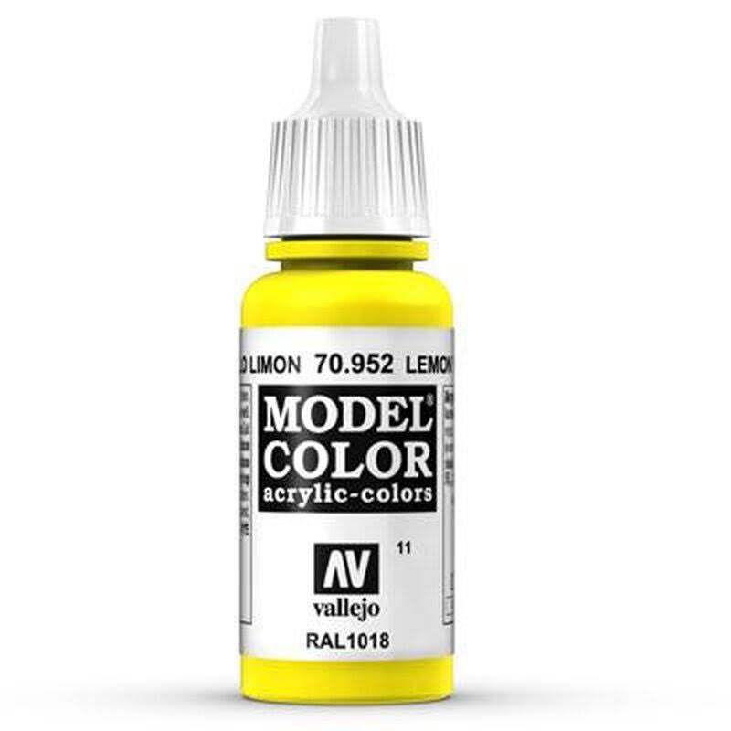 Vallejo Model Color Acrylic Paint - Lemon Yellow, 17ml