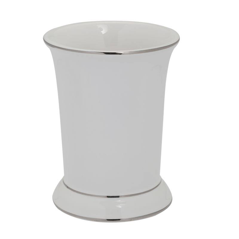 Creative Bath Products Regency Tumbler - White