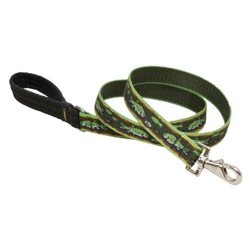 "Lupine Collars & Leads 1"" x 4' Trout Design Dog Lead"