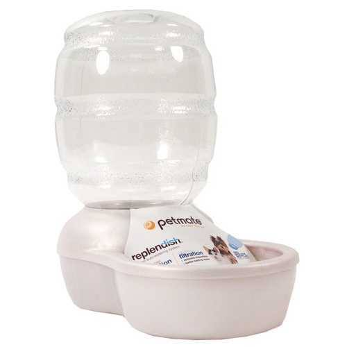 Petmate Replenish Pet Waterer With Microban - Pearl White