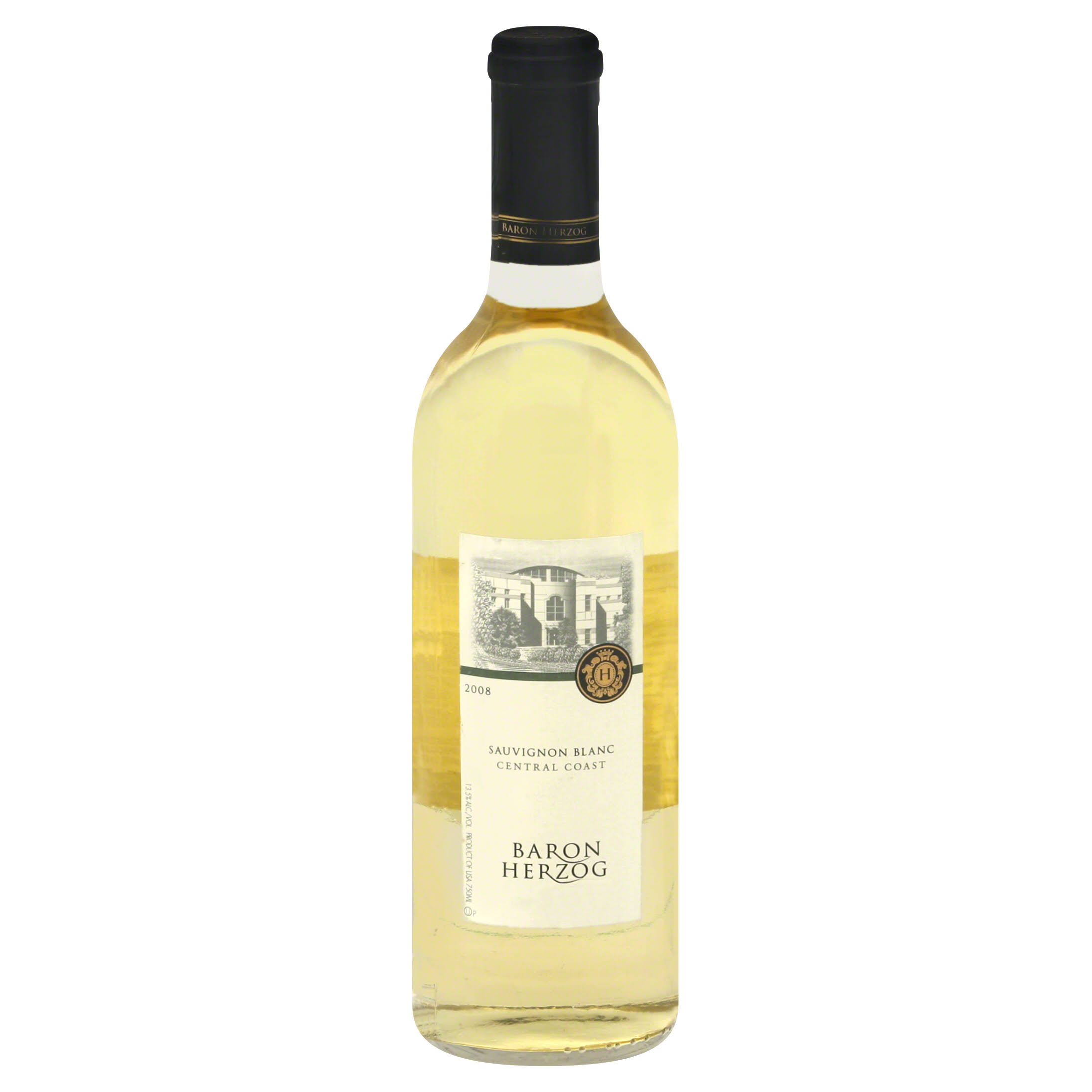 Baron Herzog Sauvignon Blanc, Central Coast, 2008 - 750 ml