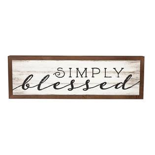 P. Graham Dunn Simply Blessed Framed Wood Wall/Tabletop Art
