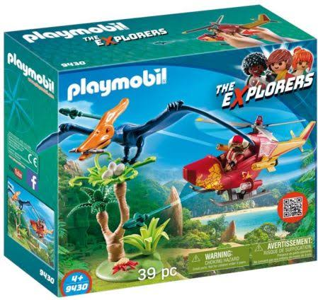 Playmobil 9430 The Explorers Adventure Copter with Pterodactyl Building Set