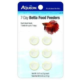 Aqueon Food Betta Feeder - 7 Day, 6pk