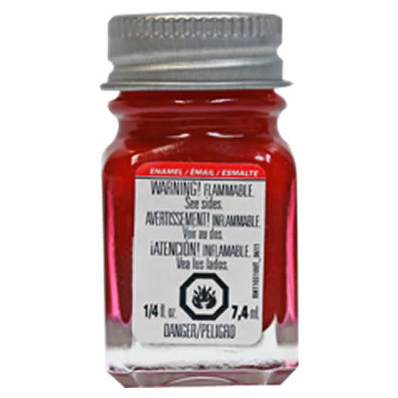 Testors - 1152 Red Metallic 1/4 oz. Enamel Paint