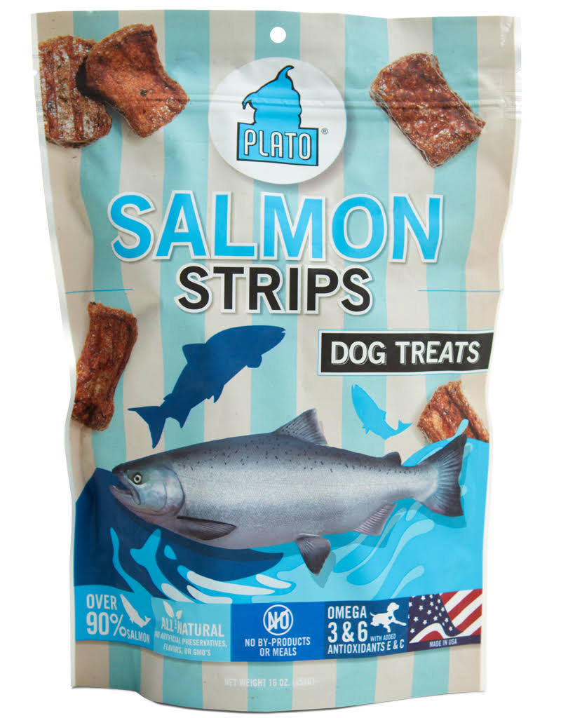 Plato Salmon Strips Dog Treat - 16oz