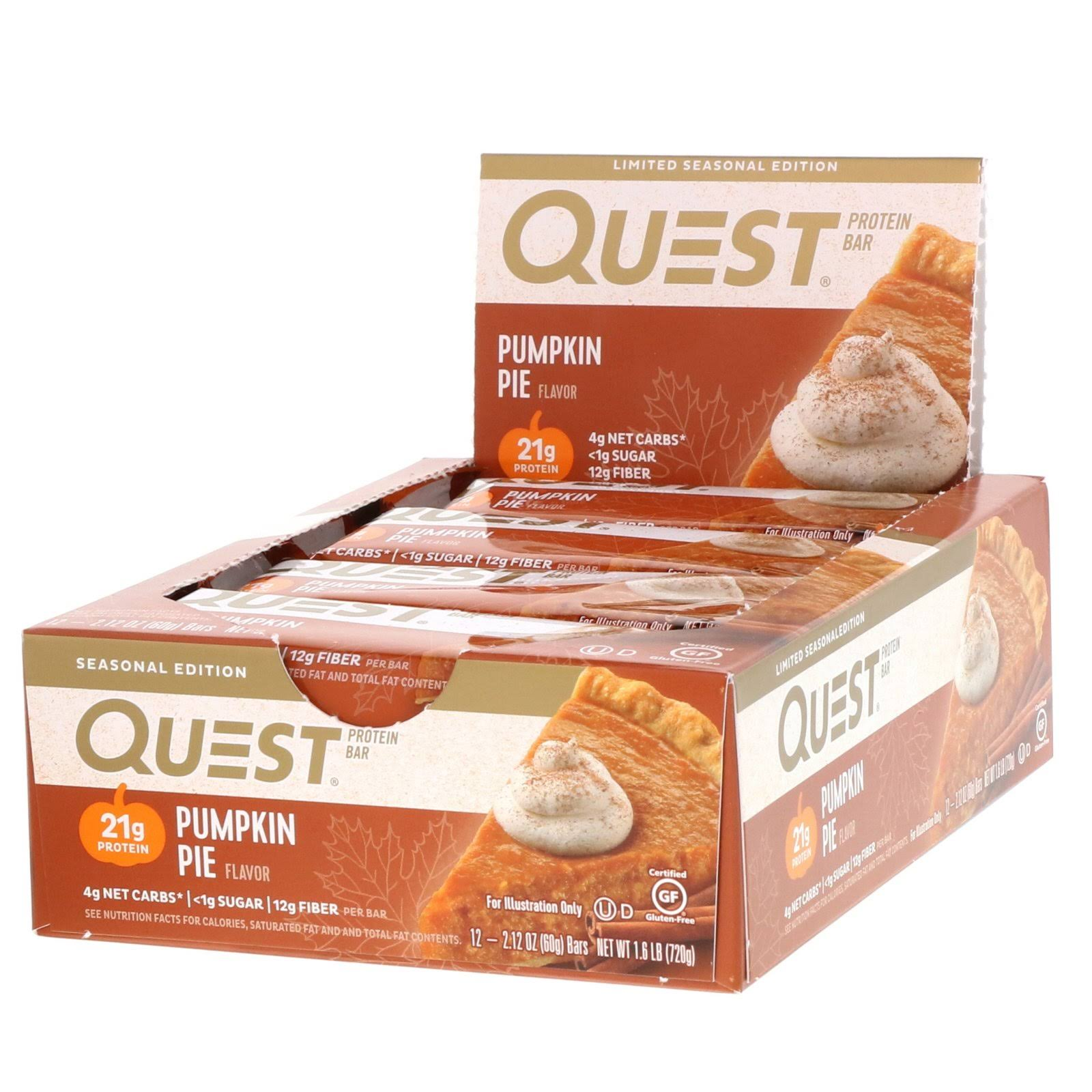 Quest Nutrition Protein Bar - Pumpkin Pie, 12ct