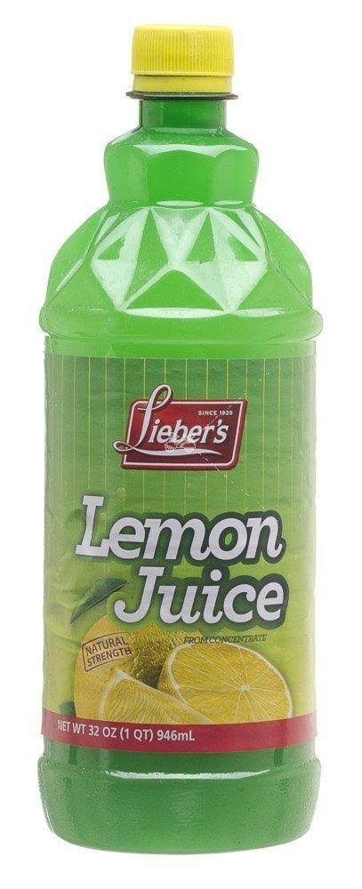 Lieber's Lemon Juice - 32 fl oz bottle