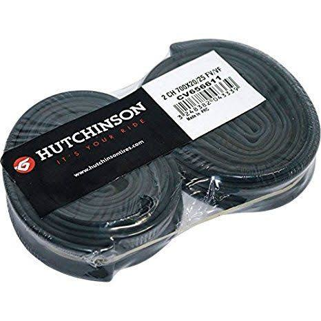 Hutchinson MTB Presta Valve Tubes - Black, 2 Pieces, 48mm Valve