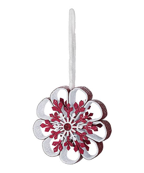 Sullivans Holiday Ornament Snowflake Flower Ornament One-Size