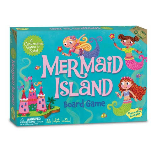 Peaceable Kingdom Press Mermaid Island Board Game