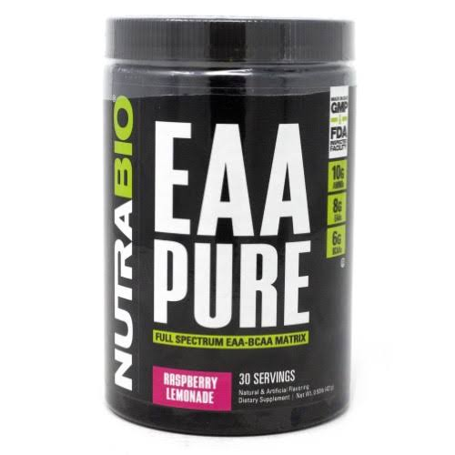 NutraBio EAA Pure Raspbery Lemonade 30 Servings