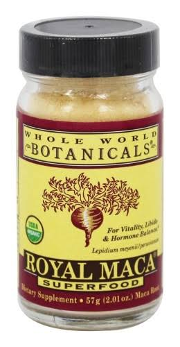 Whole World Botanicals Royal Maca Powder - 2.01 oz jar