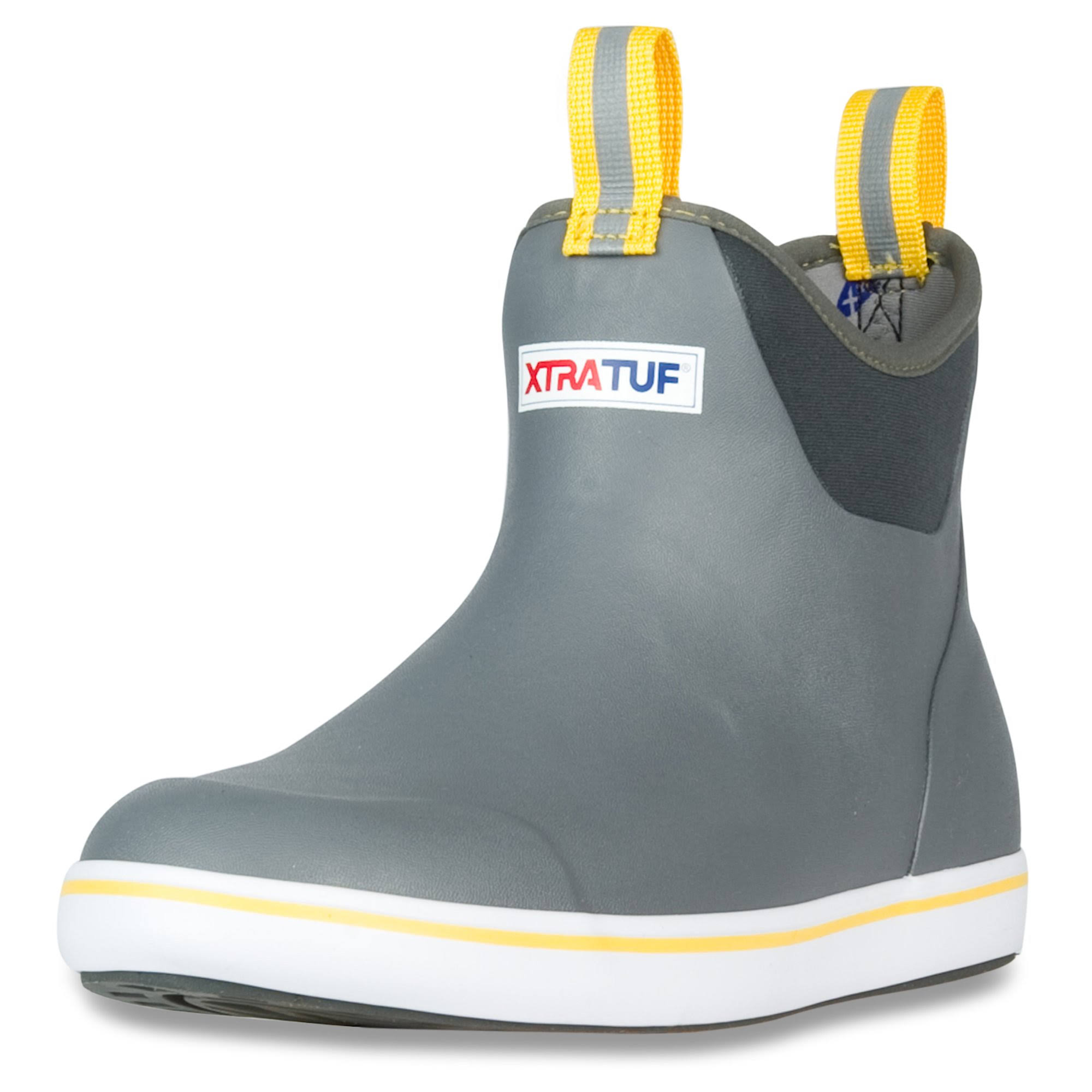 Xtratuf Performance Series 6 Mens Ankle Deck Boots - Gray and Yellow