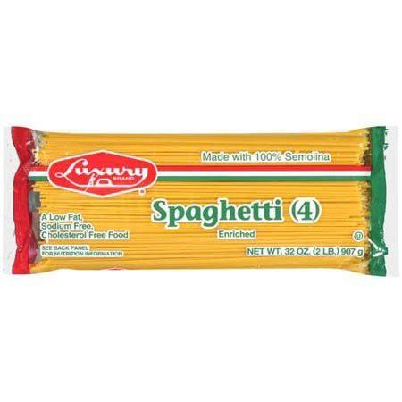 Luxury Spaghetti Pasta Enriched - 32oz