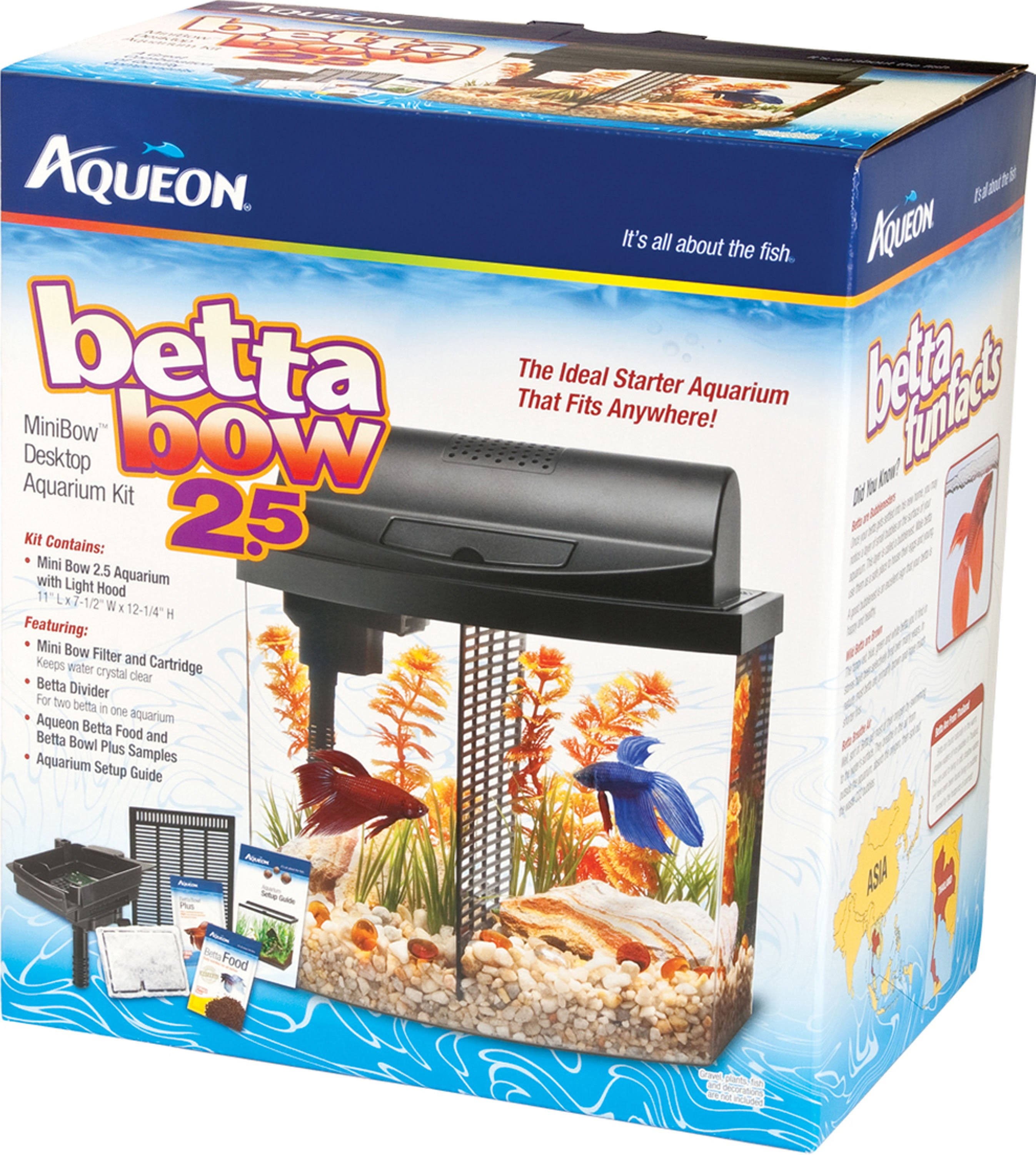 Aqueon Betta Bow Desktop Aquarium Led Kit