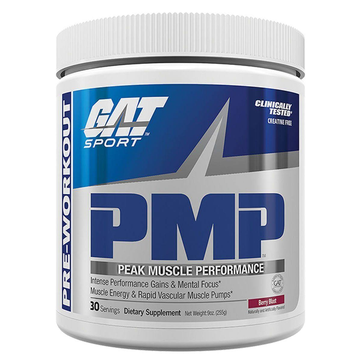 GAT PMP Pre-Workout Powder - Raspberry Lemonade, 30 Servings