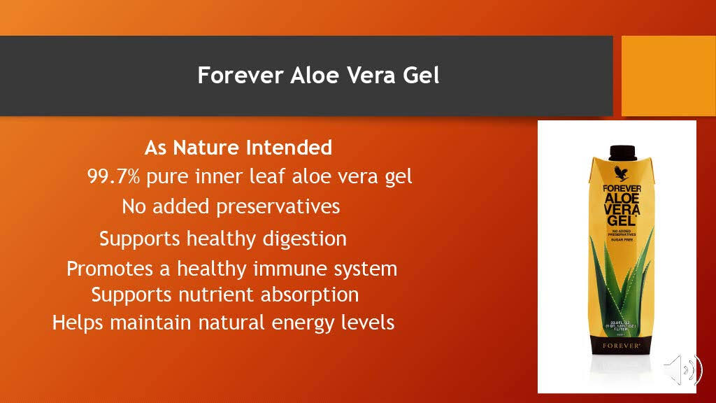 Forever Living Aloe Vera Stabilized Drinking Gel - 33.8oz