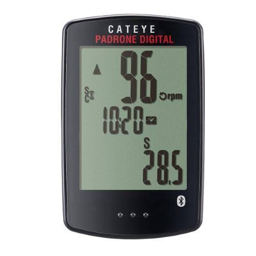 Cateye Padrone Digital Double Wireless Bicycle Computer - Black, 11 Functions