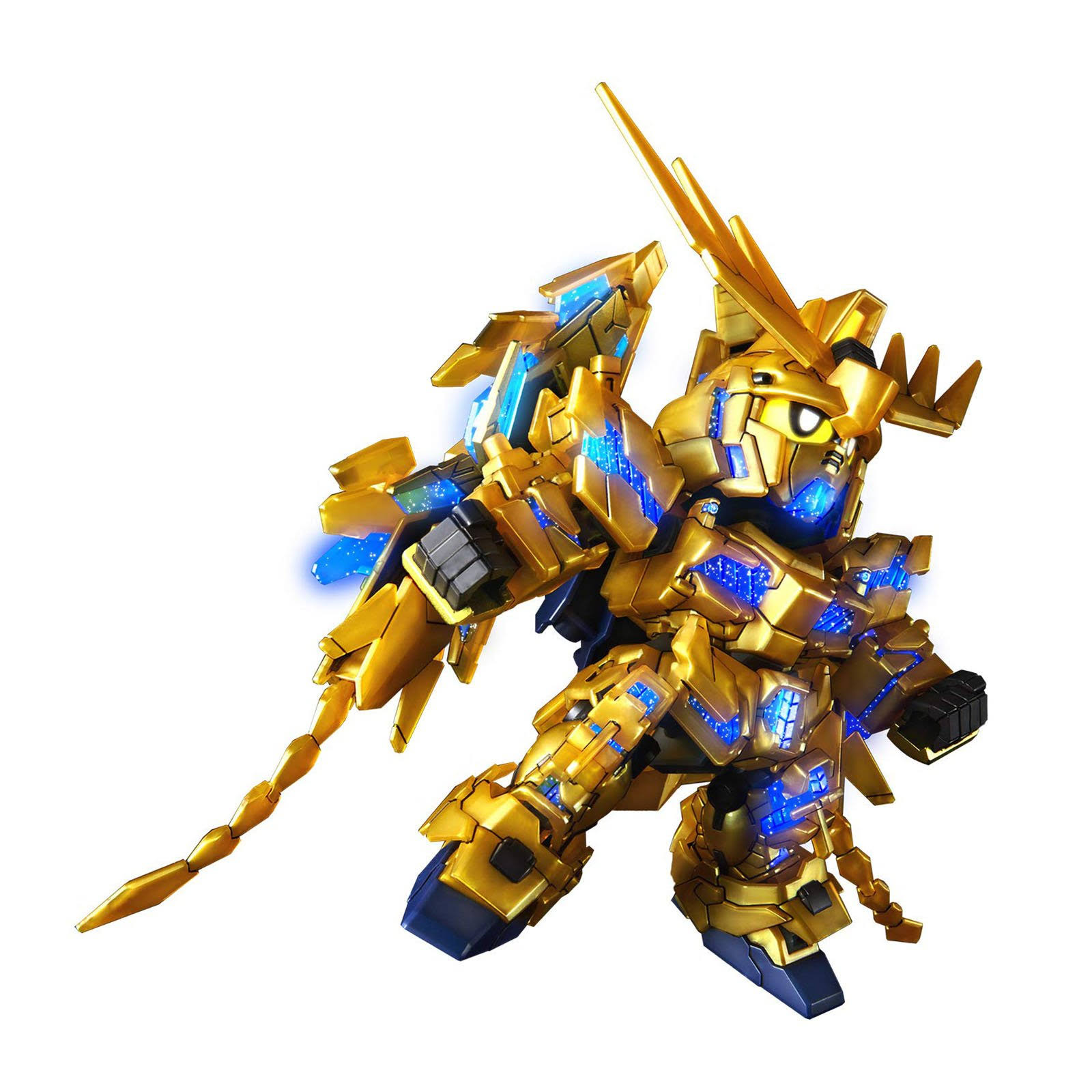 Bandai SD Cross Silhouette Unicorn Gundam 03 Phenex Plastic Model Kit