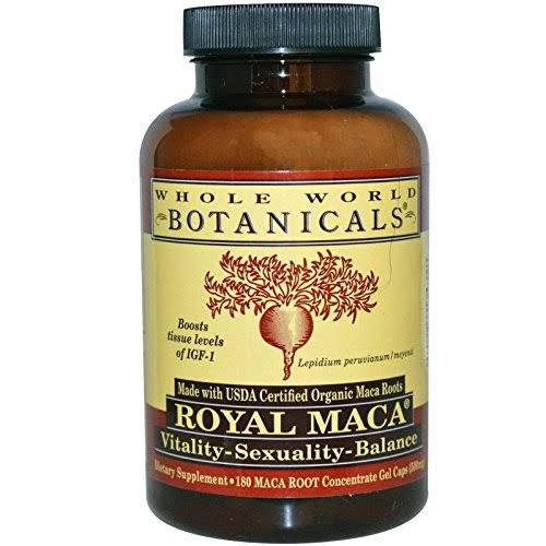 Whole World Botanicals Organic Royal Maca Capsules - x180