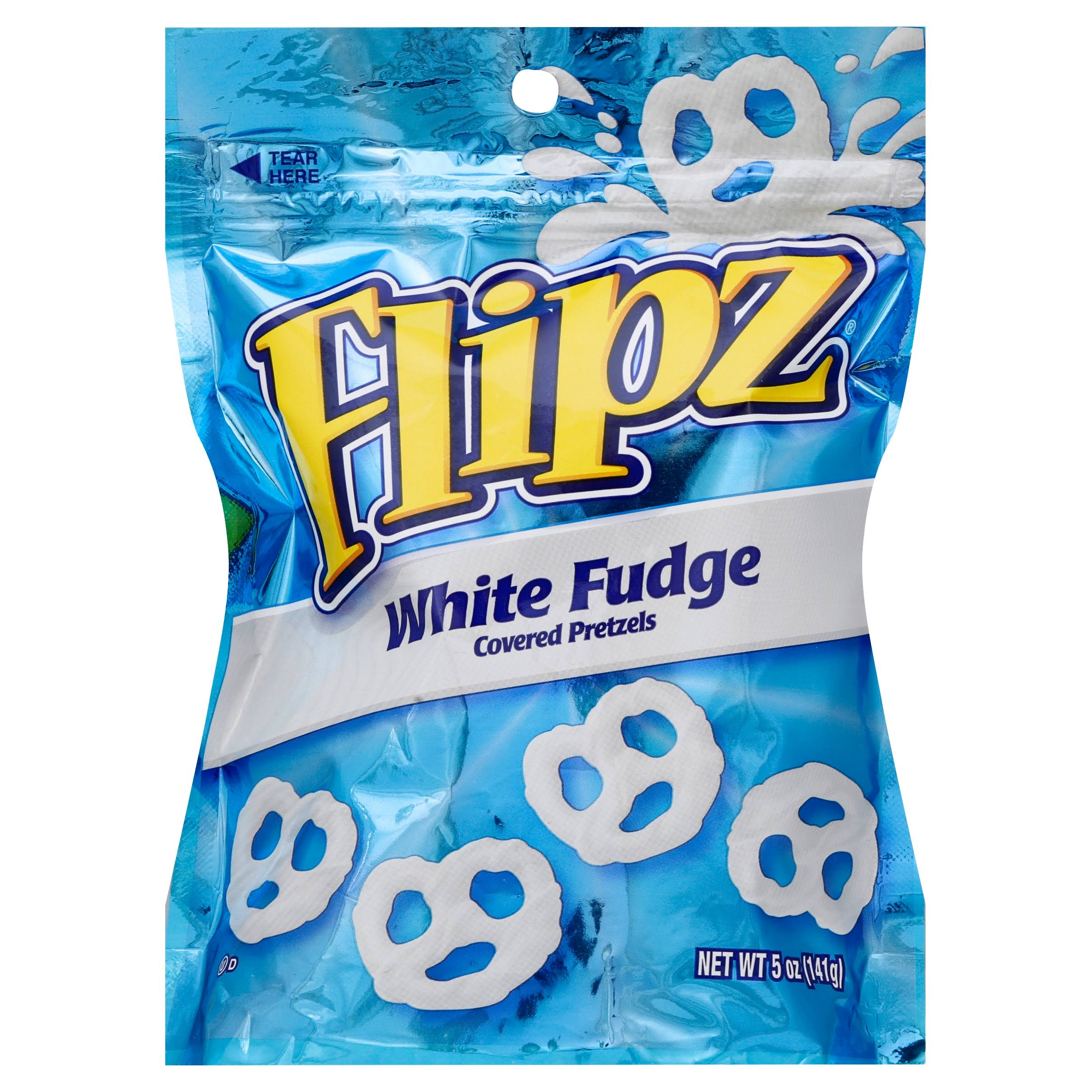 Flipz Pretzels, White Fudge Covered - 5 oz