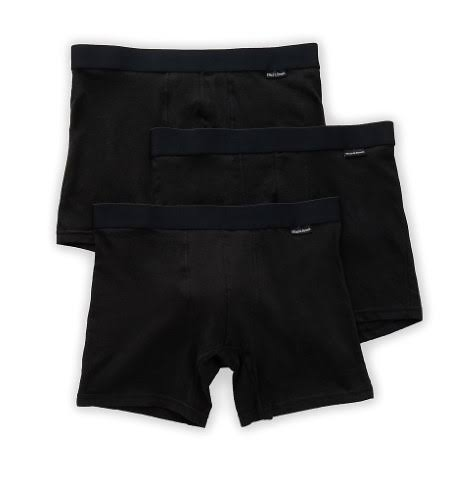 Bread and Boxers Men's Cotton Boxer Briefs - 3 Pack, Black
