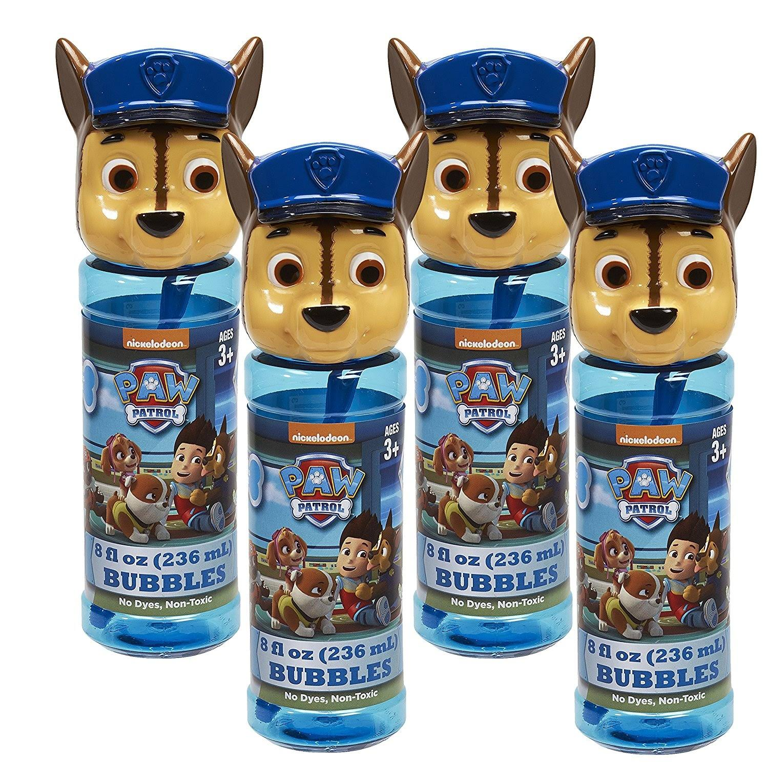 Little Kids Inc. Paw Patrol 4-pc. Bubble Heads with Wand - Chase Blue