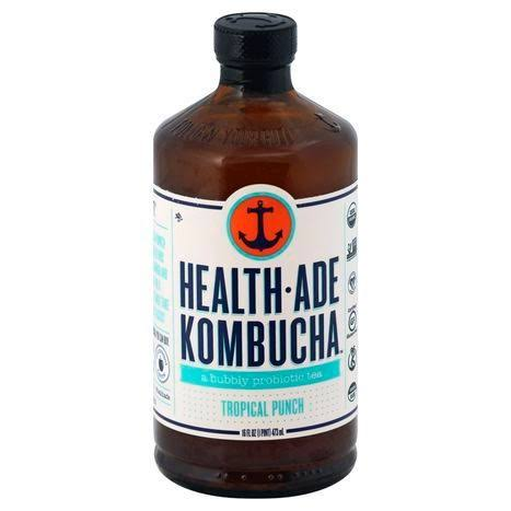 Health Ade Kombucha, Health-Ade, Tropical Punch - 16 fl oz