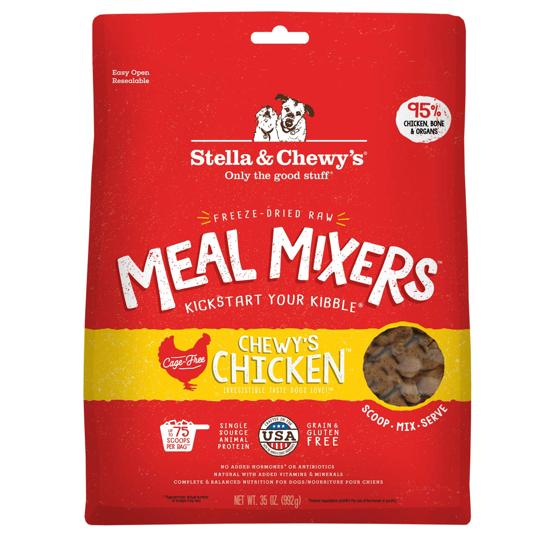Stella & Chewy's Freeze-Dried Meal Mixers Dog Food Toppers, Chewy's Chicken / 35 oz