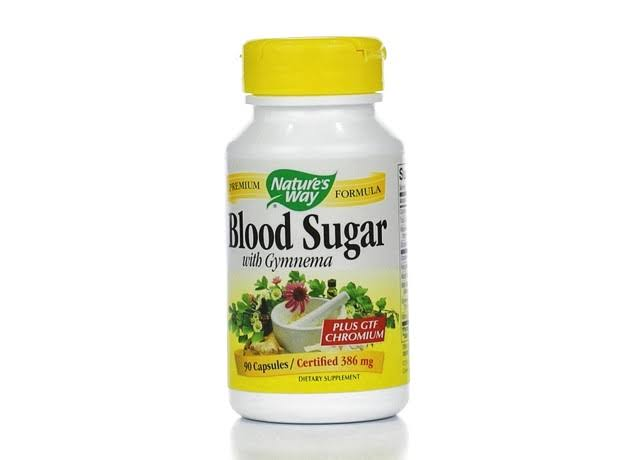 Nature's Way Blood Sugar & Gymnema Dietary Supplement - 90 Capsules