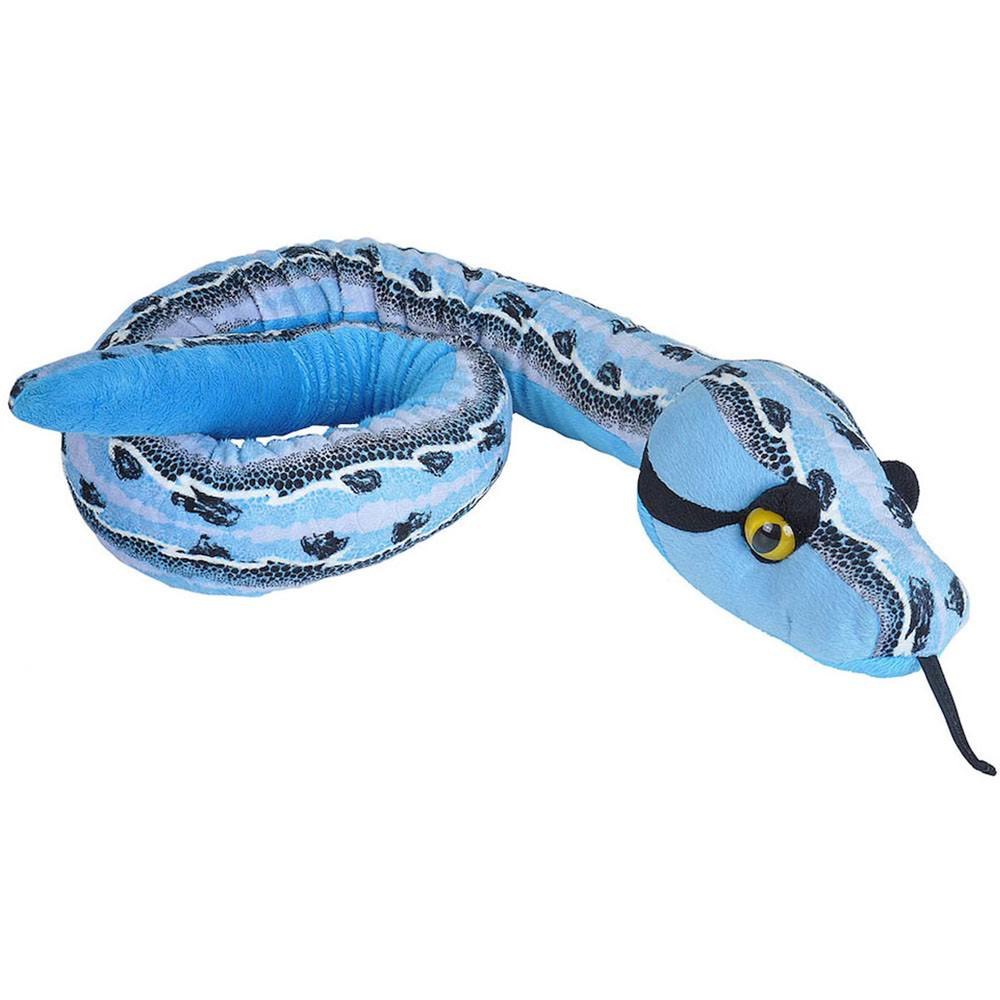 Wild Republic 22189 Plush Snake Slipstream Blue, Soft Toy, Gifts for Kids, 137cm