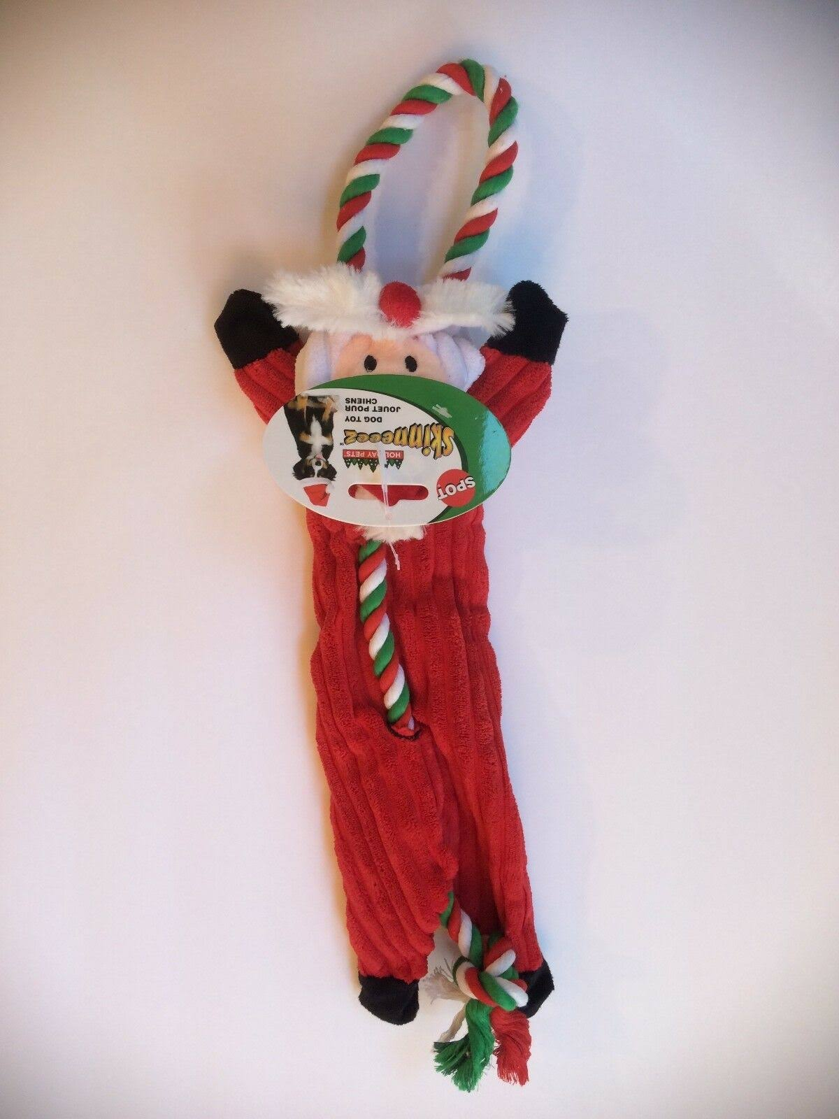 "Spot Ethical Holiday Skinneeez Corduroy Tug 18"" Reindeer Dog Toy. USA"