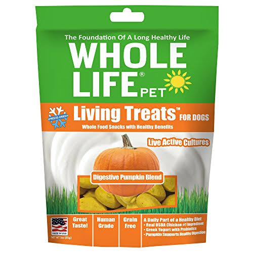 Whole Life Living Treats Grain Free Digestive Pumpkin Blend Freeze Dried Dog Treats - 3-oz