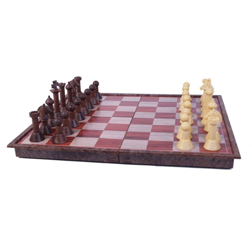 Classic Game Collection Magnetic Faux Wood Chess Set