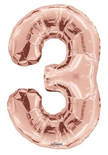 "34"" Number Balloon - 3 - Rose Gold"