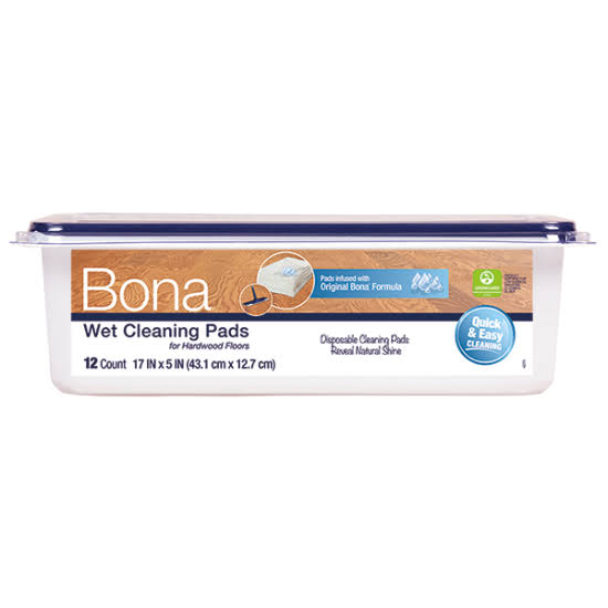Bona Hardwood Floor Wet Cleaning Pads - 12 Pack