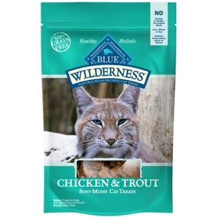 Blue Buffalo Wilderness Cat Treats - Chicken and Trout, 2oz