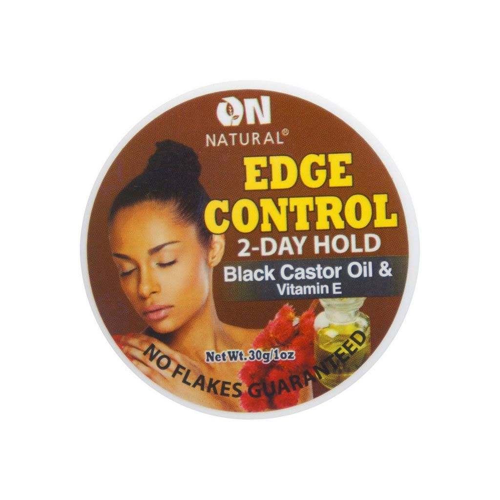 on Natural Edge Control Black Castor Oil & Vitamin E Hair Gel 1 oz