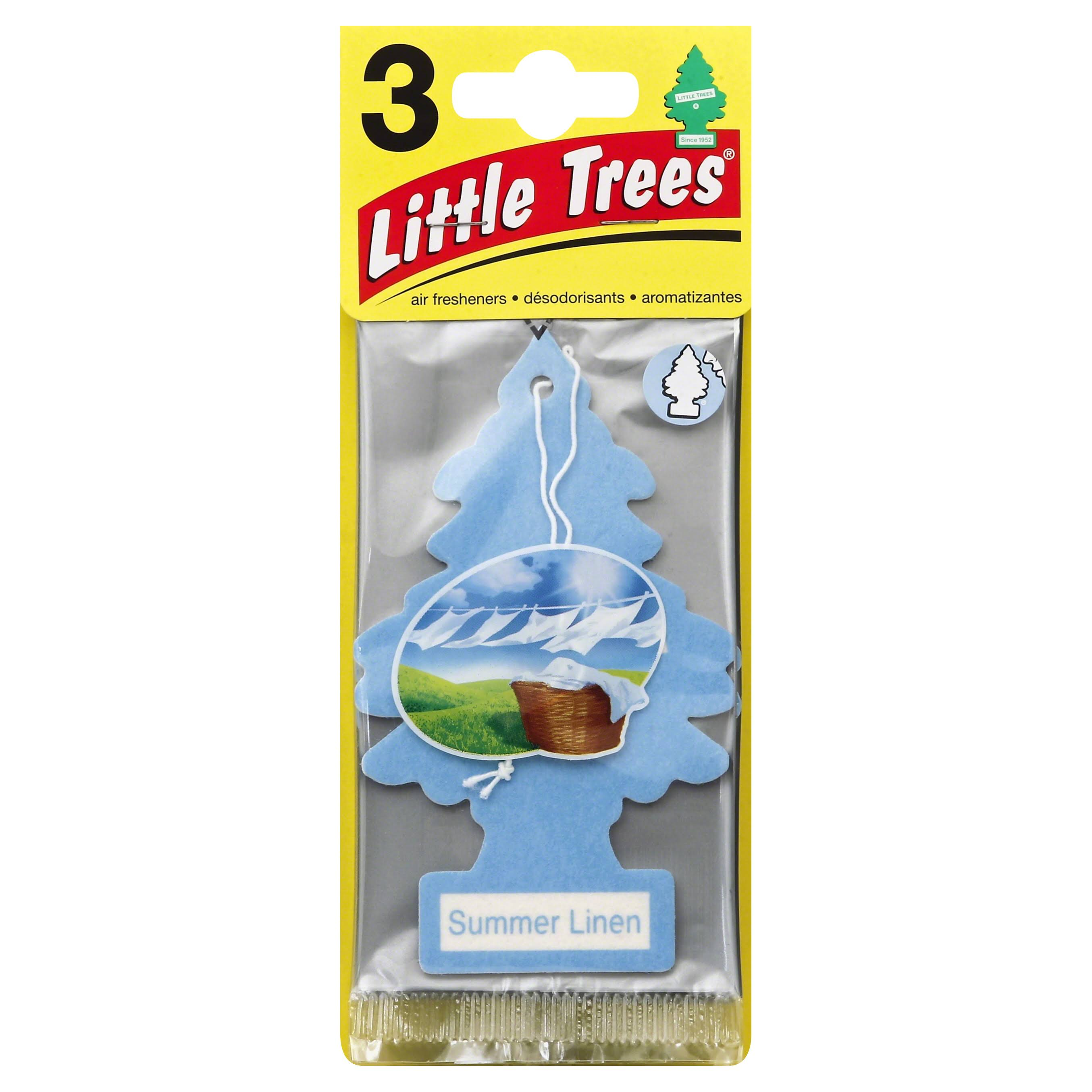 Car-Freshner Little Trees Summer Linen Air Freshener - 3pk