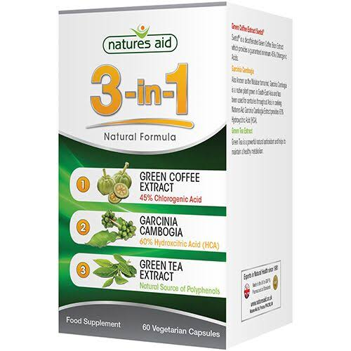 Natures Aid 3 in 1 Natural Formula Food Supplement - 60 Vegetarian Capsules