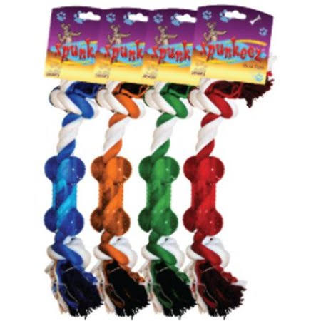 Spunkeez Rope With Nubby Chew Dog Toys