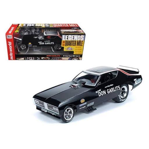 Autoworld 1971 Dodge Charger Don Garlits NHRA Funny Car Die Cast Model Toy Vehicle - 1:18 Scale