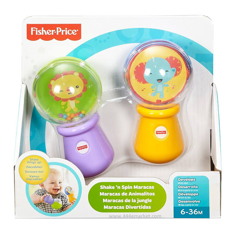 Fisher-Price Shake 'n Spin Maracas Toy