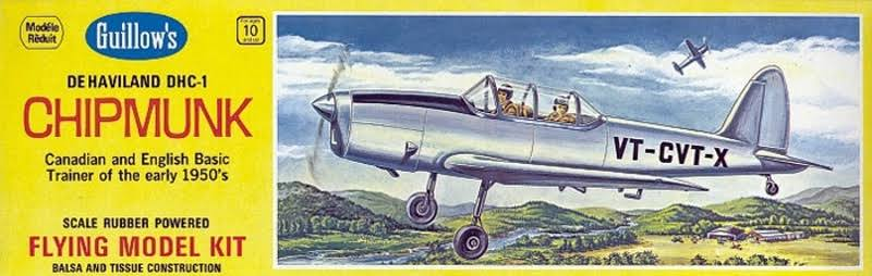 Guillow De Haviland Chipmunk Flying Balsa Model Kit