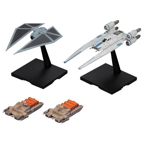 Bandai Hobby U-Wing Fighter and Tie Striker Rogue One Model Kit - 1:144 Scale