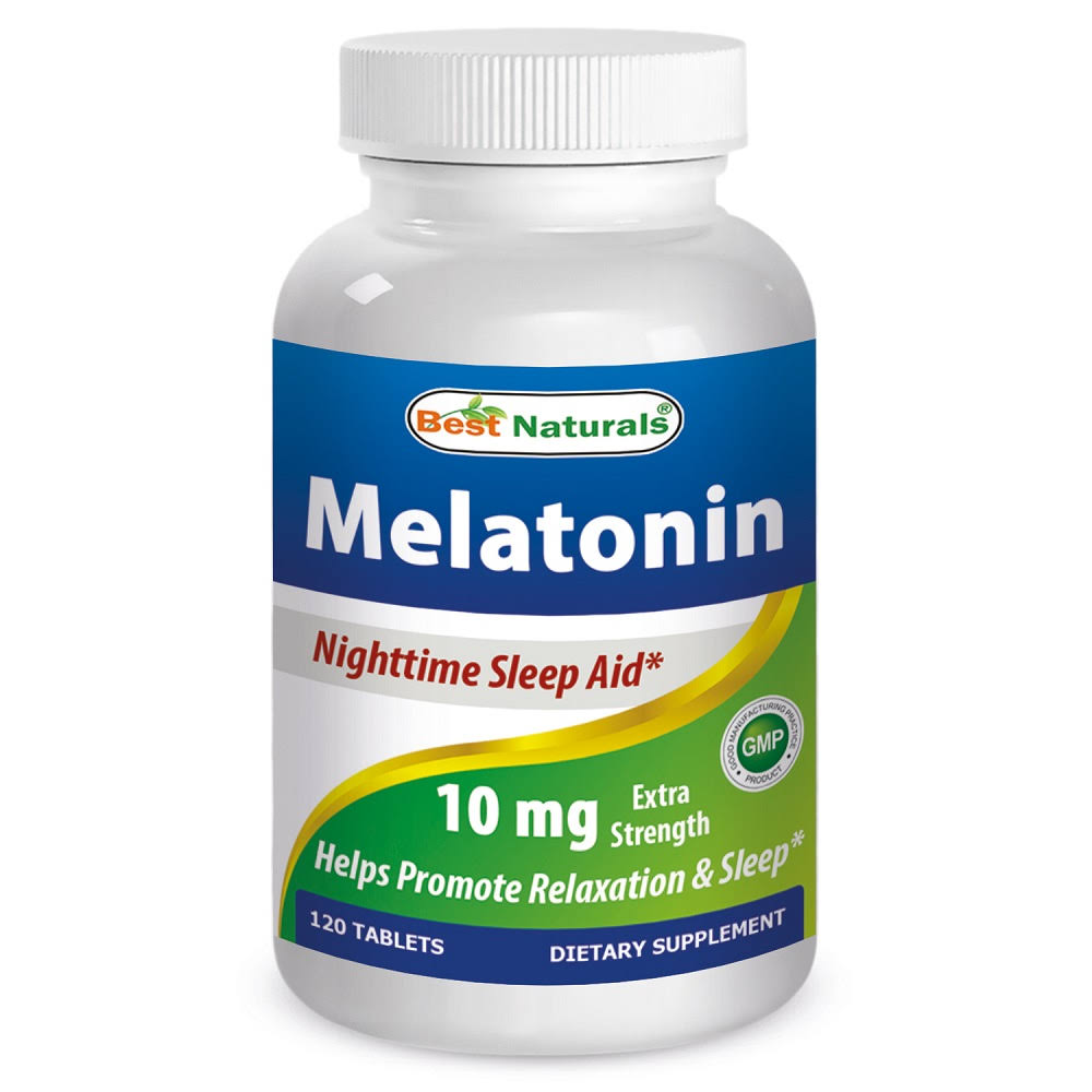 Best Naturals Melatonin Supplement - 10mg, 120 Tablets